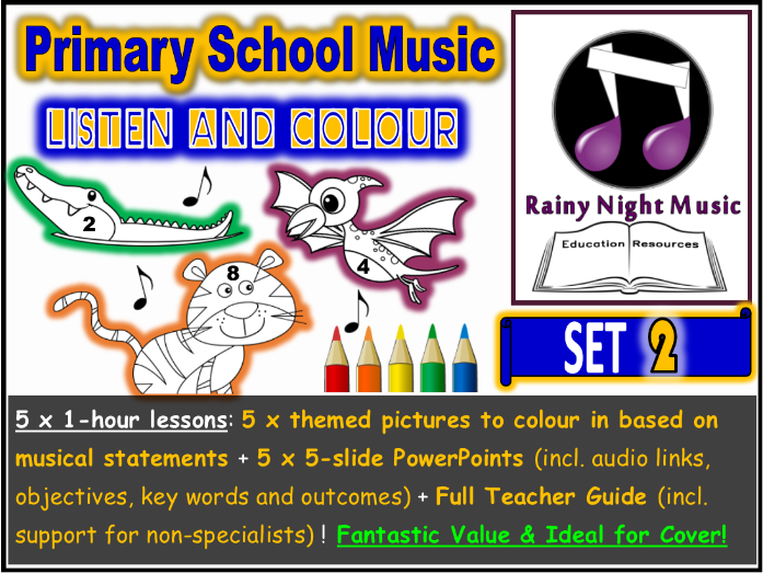 PRIMARY MUSIC Listening Activities SET 2 Distance Learning