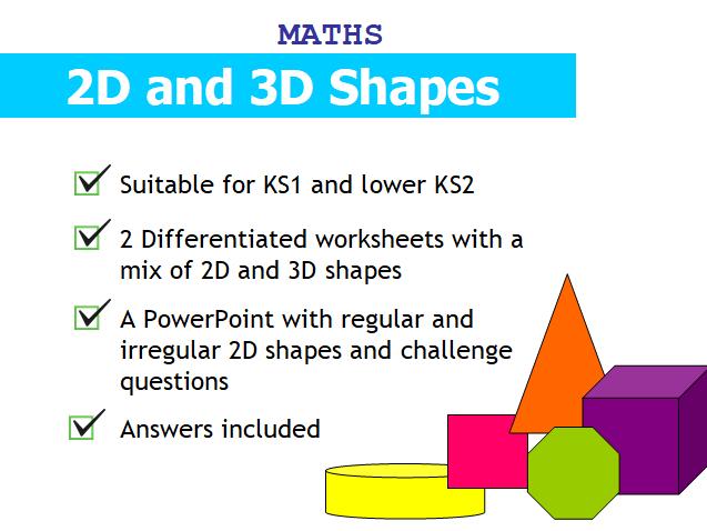 2D & 3D shape identification and descriptions