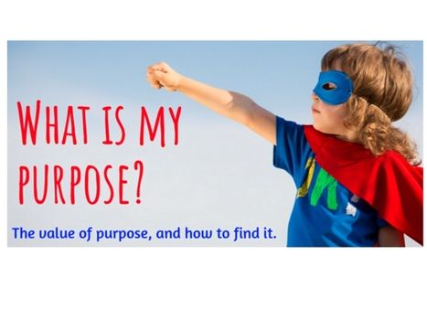 Purpose - How Do I Find Mine?