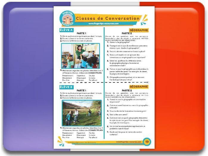 La géographie - French Conversation Activity