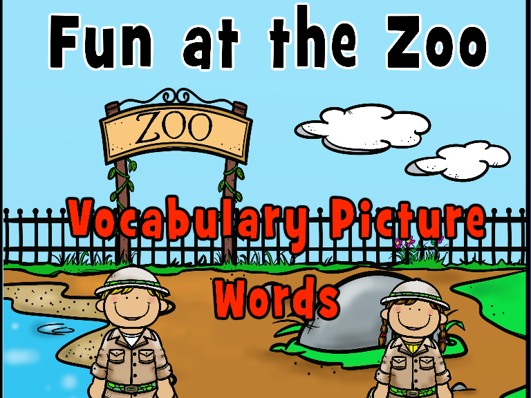 Zoo Picture Vocabulary Words