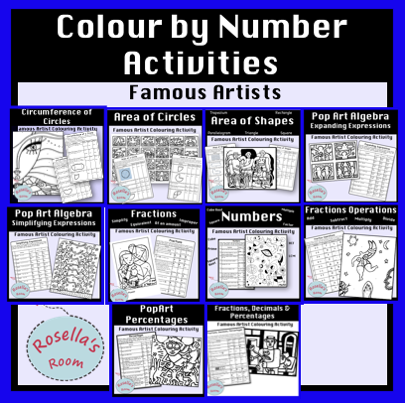 Maths Colour by Number Activity BUNDLE