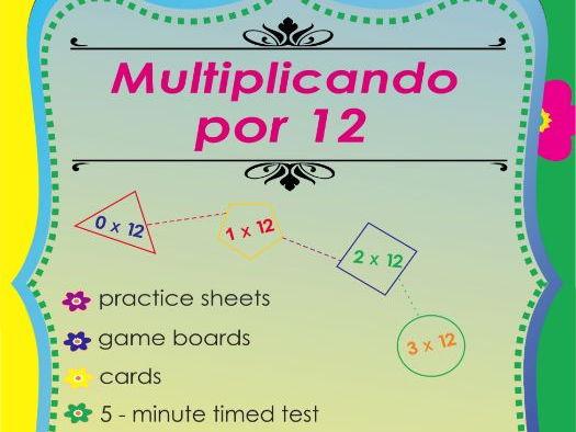 Multiplicando Por 12 - Spanish Multiplication Math Games and Lesson Plans