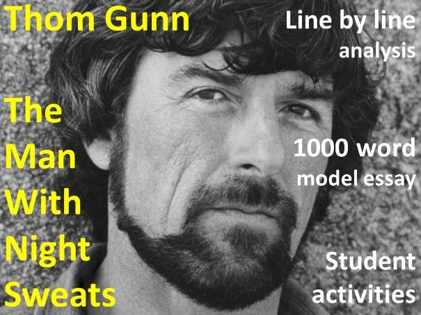 The Man with Night Sweats by Thom Gunn - Lesson and 1000 Word Model Essay - Poetry iGCSE 2023-25