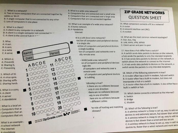 Bundle of Computer Science Zip Grade starter mini tests