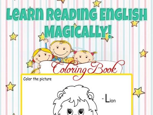 Learn Reading English Magically! Coloring Book