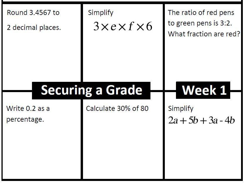 Target Grade 1 Starter Pack