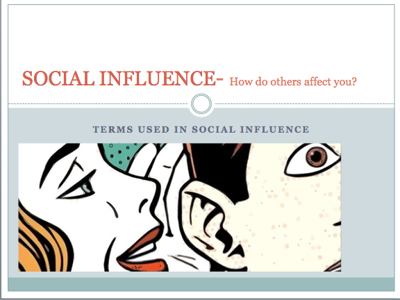 GCSE Psychology Edexcel- Social influence (Terms used in social influence research)