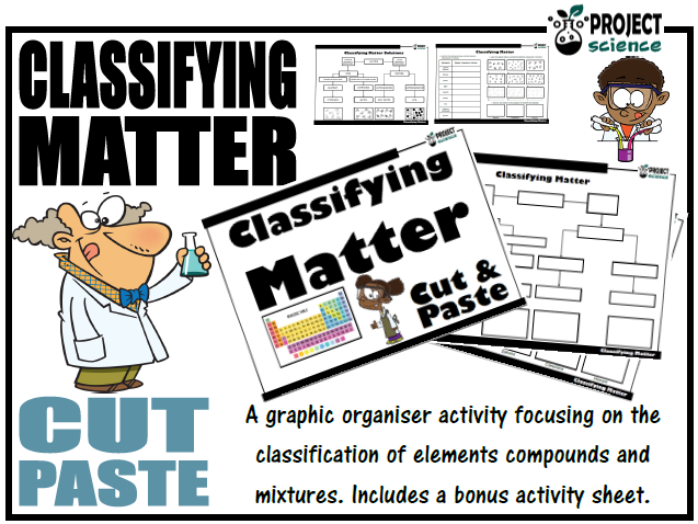 Classifying Matter Activity [Cut and Paste]