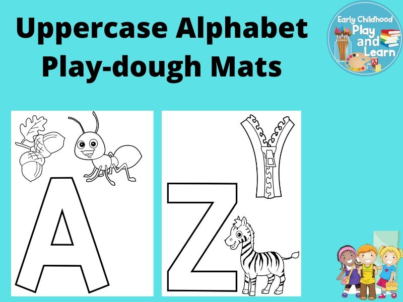 Beginning Sounds Uppercase Alphabet Play-dough Mats