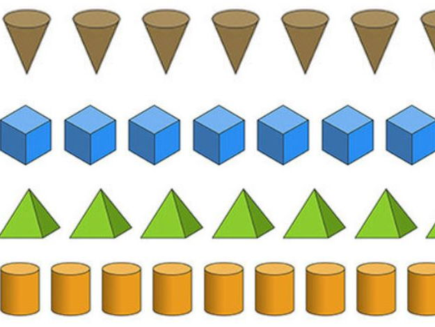 Maths - 3D shape patterns
