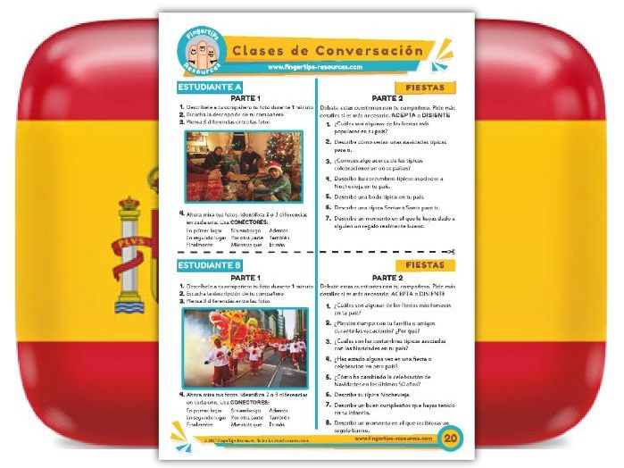 Fiestas - Spanish Speaking Activity