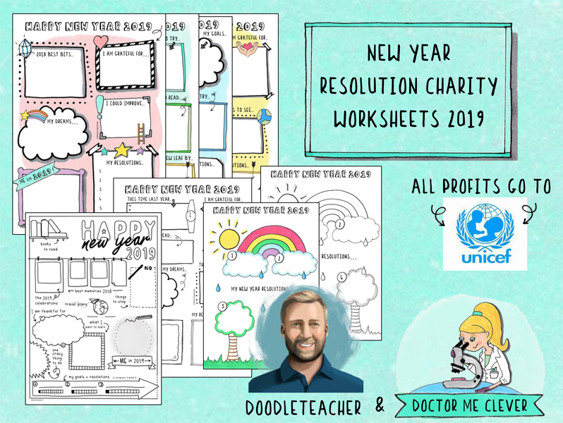 CHARITY New Year Resolution Worksheets