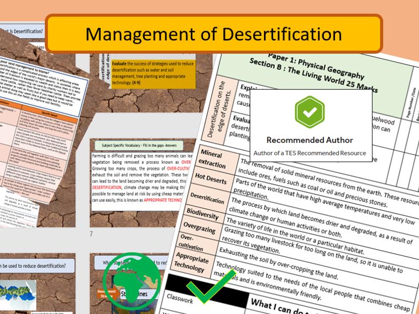 AQA 9-1 GCSE Geography - Hot Deserts , Management of Desertification