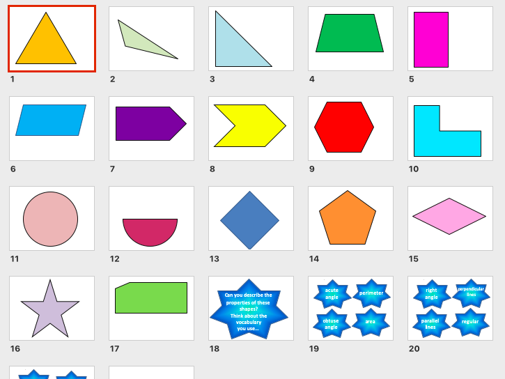 2D shapes & properties: fully editable PowerPoint