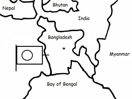 BANGLADESH - Printable handout with map and flag