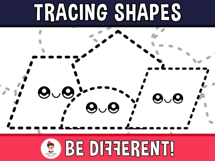 Tracing Shapes Clipart