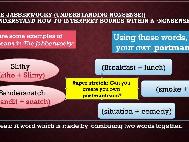 Three Lesson Bundle - The Jabberwocky (Two reading lessons & one writing lesson)