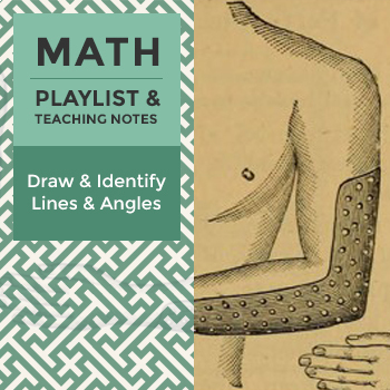 Draw and Identify Lines and Angles - Playlist and Teaching Notes