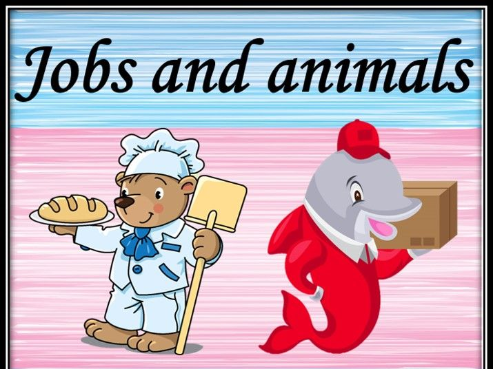 Jobs and animals. Matching game.