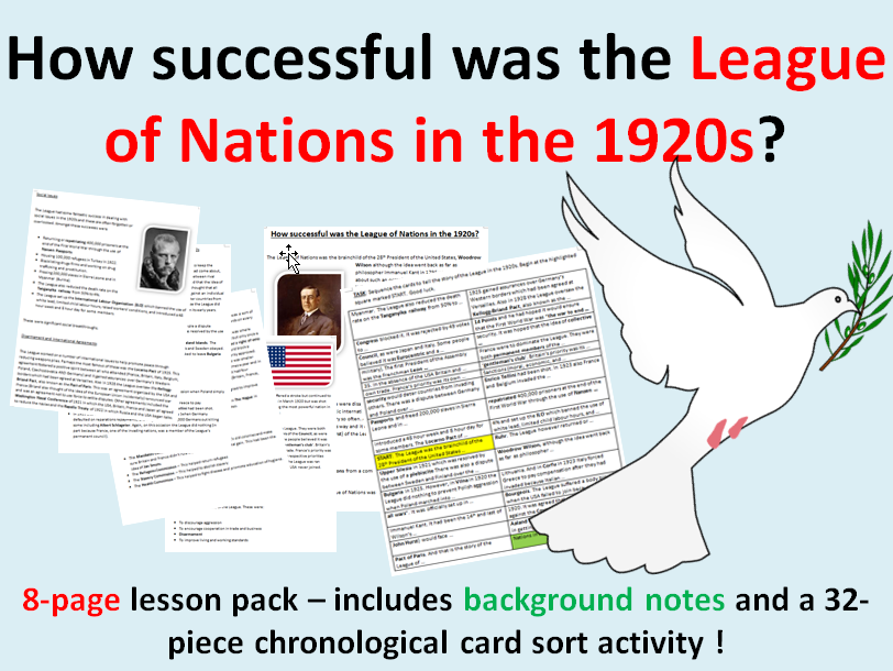 League of Nations in the 1920s - 8 page lesson pack