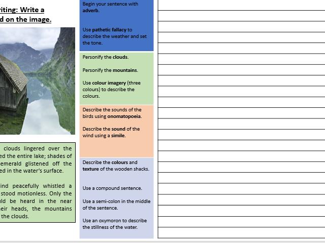 Descriptive Writing Placemat By Lhowellpratt  Teaching -6645