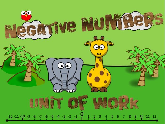 KS2: Negative Numbers (Six Lesson Unit of Work + BONUS RESOURCES)