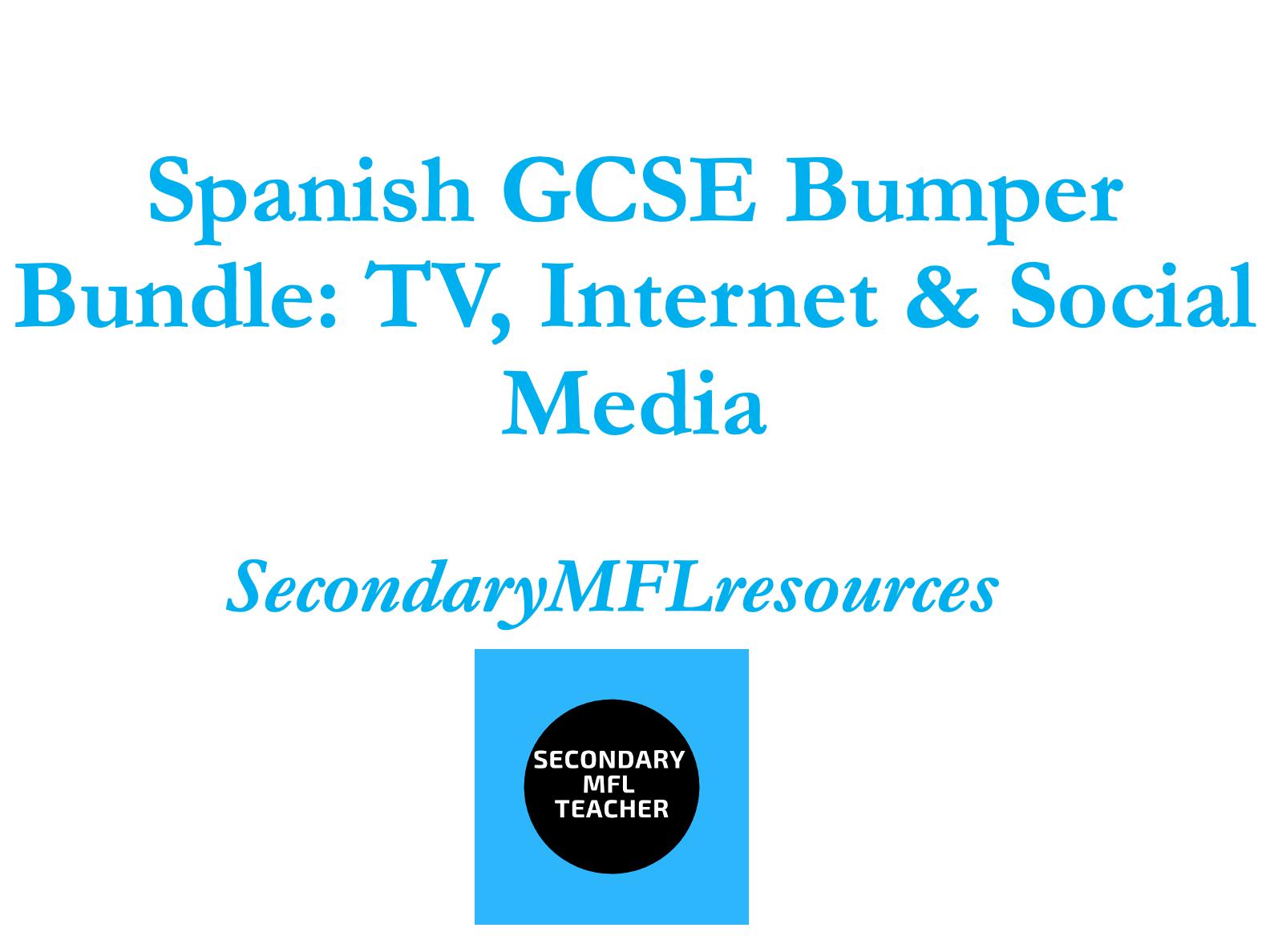 Spanish TV, Internet, Social Media Bumper Bundle (16 resource packs)