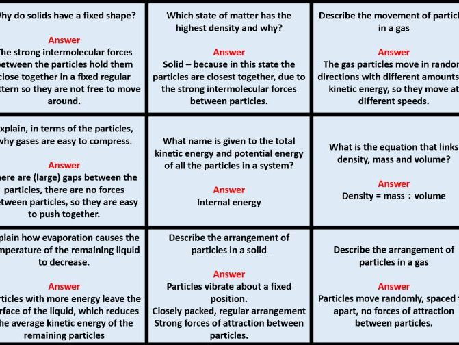 AQA GCSE Paper 1 Physics Revision Question and Swap cards