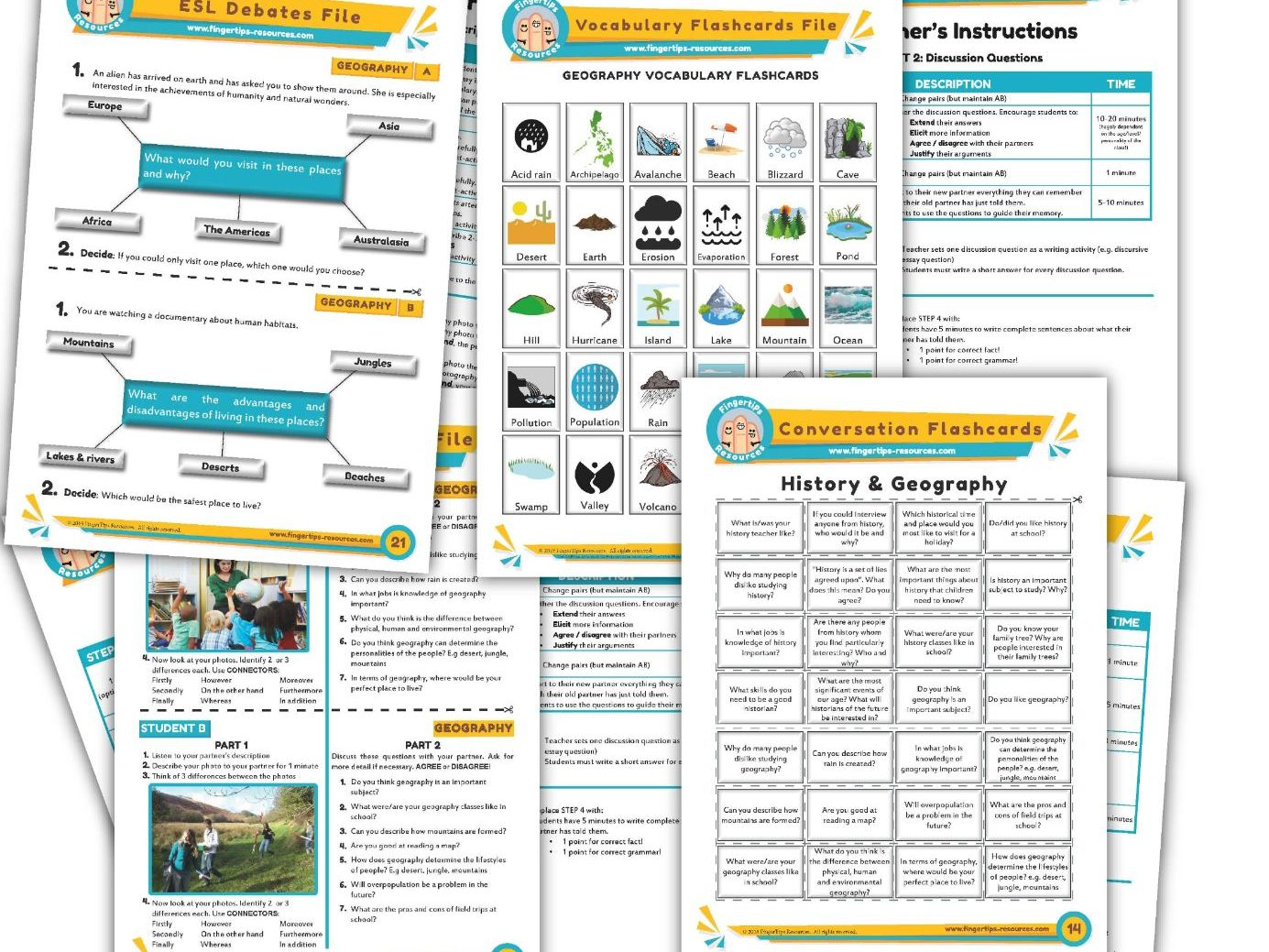 Geography Unit - ESL Activity Bundle