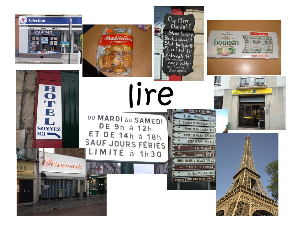 Photos of France for Reading Comprehension