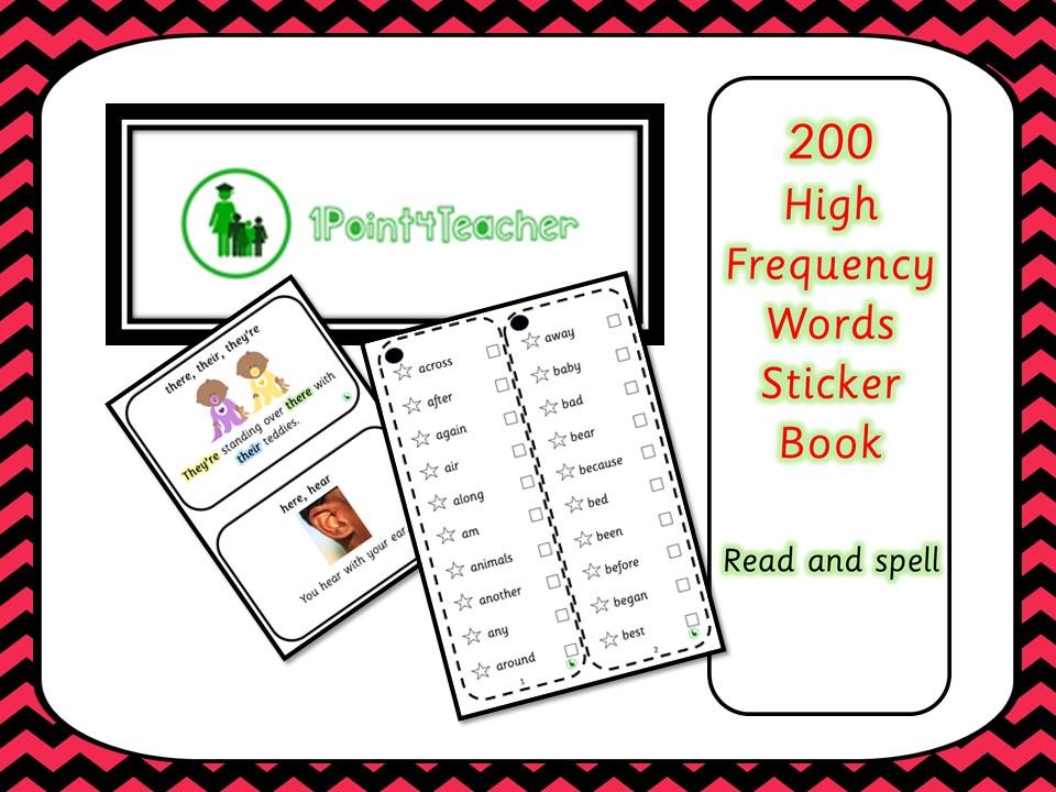 200 HFW Sticker Book