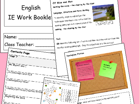 English IE/Isolation/Homework Work Booklet YEAR 9