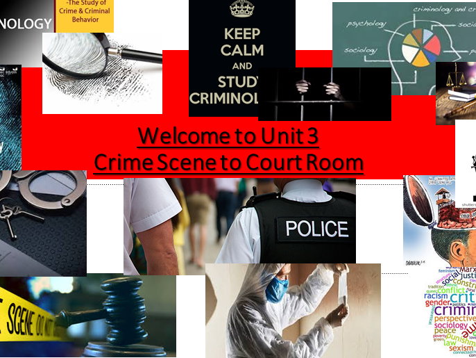 Criminology (NEW SPEC)Unit 3 Crime Scene to Court Room -An Introduction to Unit 3
