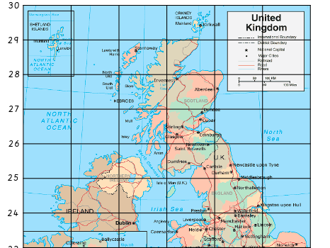 UK Grid Reference Map