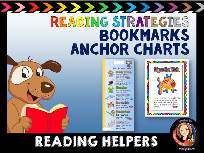 Reading Strategies Bookmark and Anchor Charts