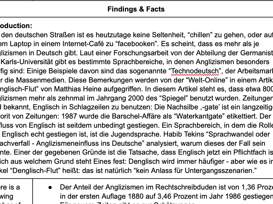Edexcel German Example IRP: Anglizismen