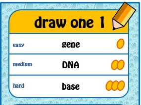 DNA GCSE Game 'Draw Something' Biology - cards, PPT and Instructions