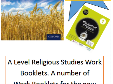 A Level Religious Studies Work Booklets Bundle for OCR Spec