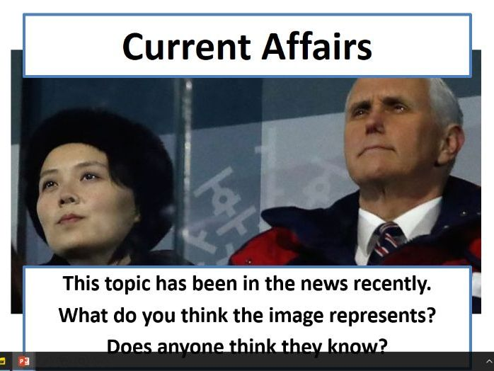Current Affairs Form Time Activity - Winter Olympics Diplomacy