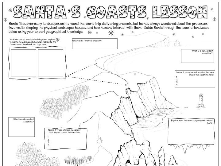 GCSE Geography Xmas Activities: Coasts