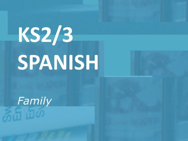 KS2/3 Spanish: Family.  Worksheet Selection.