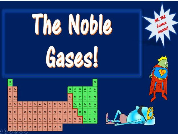 Periodic Table Group 0 Noble Gases Lesson