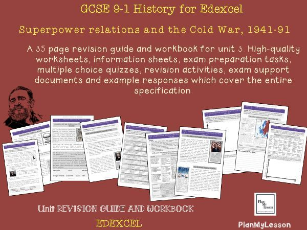 Edexcel GCSE 9-1 Superpower relations and the Cold War, 1941-91: Unit 3 Revision Guide and Workbook