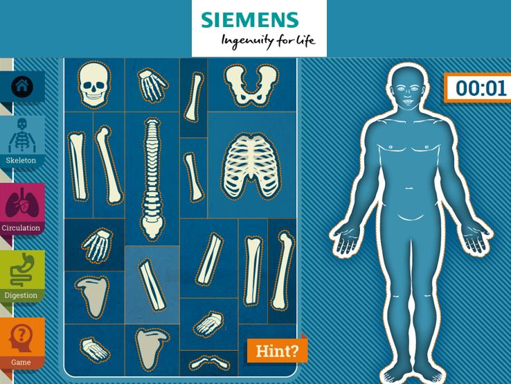 Siemens Education KS2 Activity 'The Human Body'
