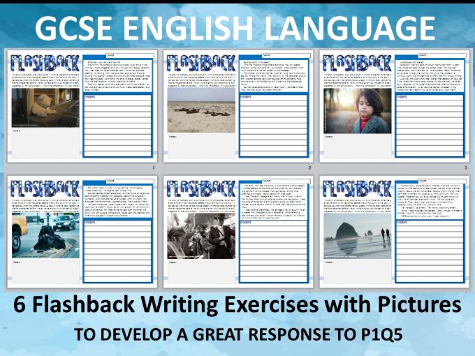 6 Flashback Writing Exercises for GCSE English Language 9-1