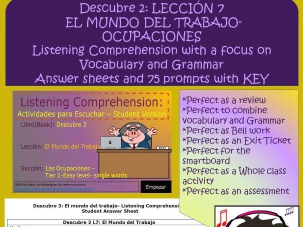 Las Ocupaciones - Listening Exercise
