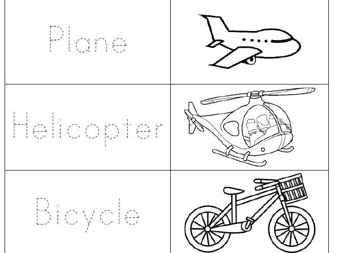 Means of transport in tracing letters.
