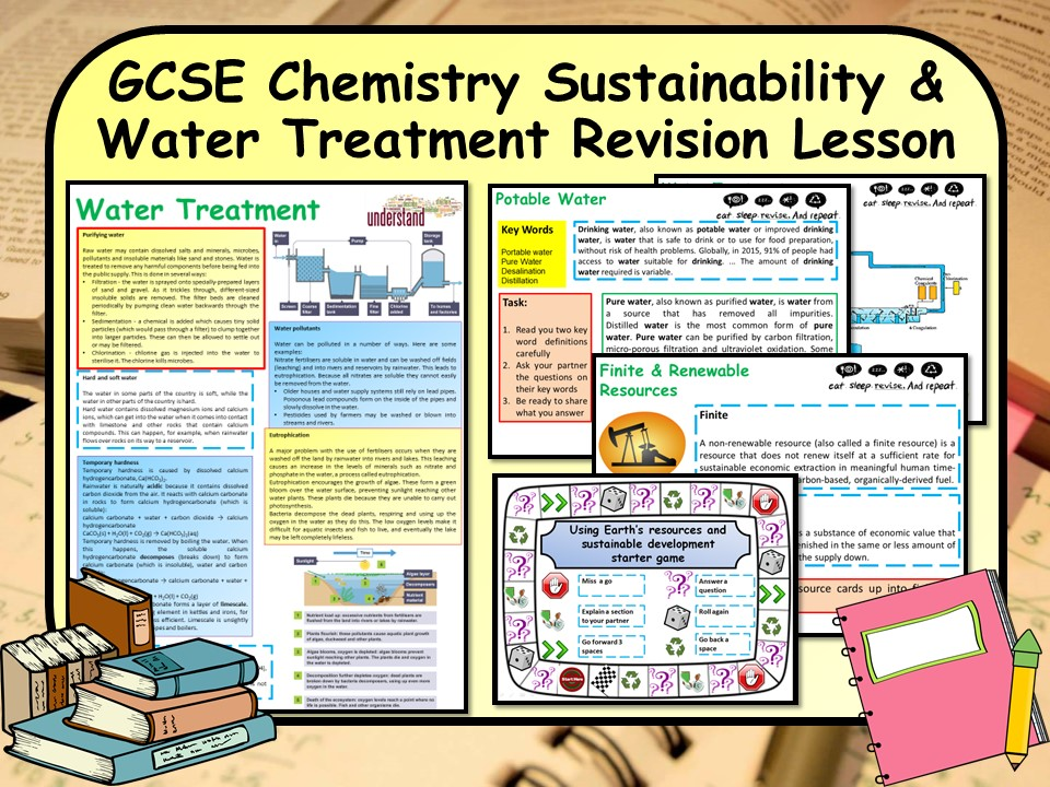 KS4 GCSE Chemistry (Science) Sustainability & Water Treatment Revision Lesson