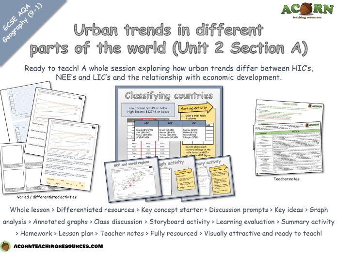Urban issues and challenges - Urban trends in different parts of the world